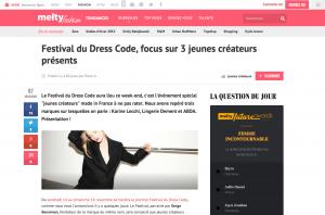 Festival du Dress Code focus sur 3 jeunes créateurs présents meltyFashion
