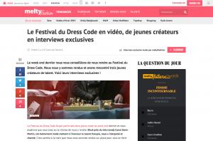 Le Festival du Dress Code en vidéo de jeunes créateurs en interviews exclusives meltyFashion