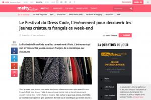 Le Festival du Dress Code l événement pour découvrir les jeunes créateurs français ce week end meltyFashion