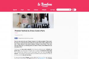 Premier festival du Dress Code à Paris le Bonbon