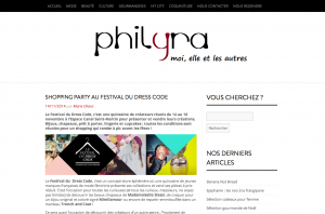 Shopping party au festival du Dress Code Philyra