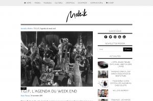 T.G.I.F l agenda du week end Mode T.G.I.F avec Modzik